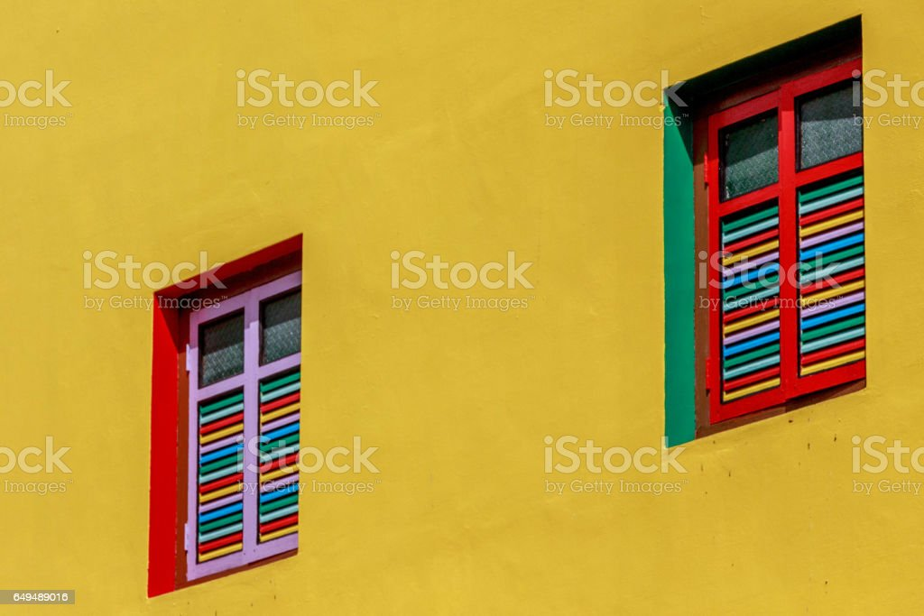 Two Colorful Windows stock photo