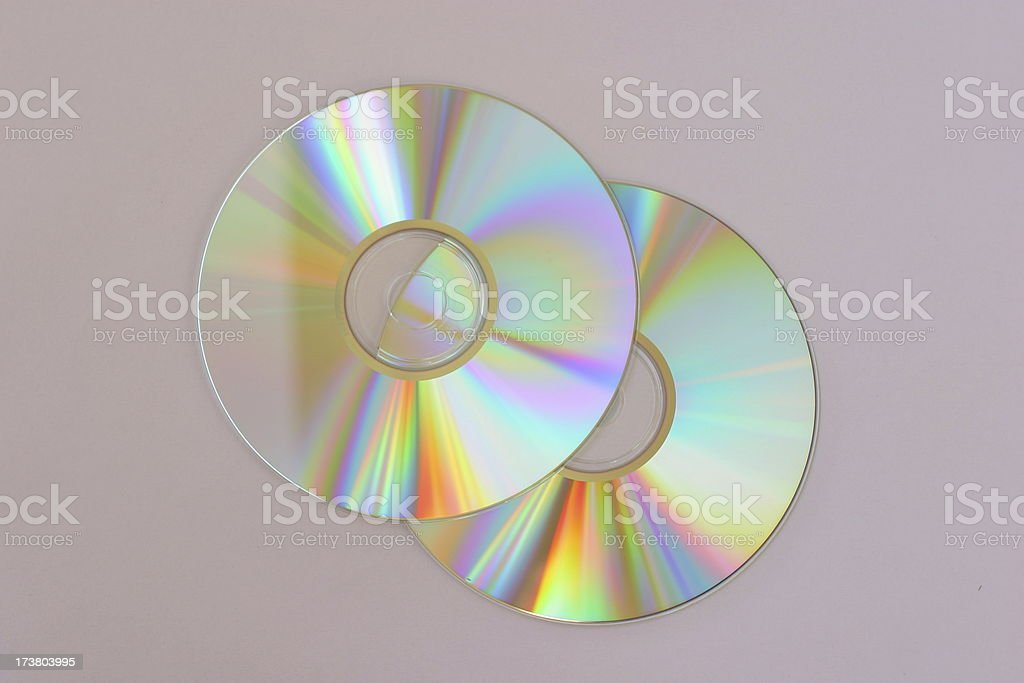 Two Compact Discs - CD isolated royalty-free stock photo