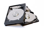 Two computer hard disk drives