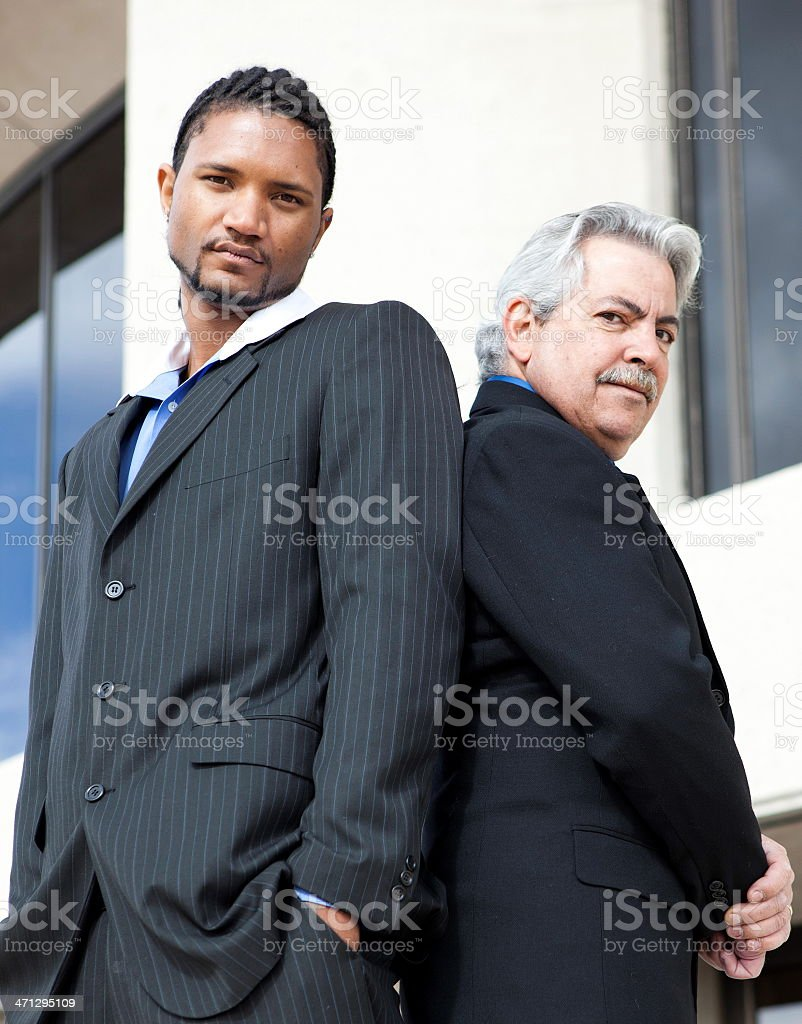 Two confident businessmen stock photo