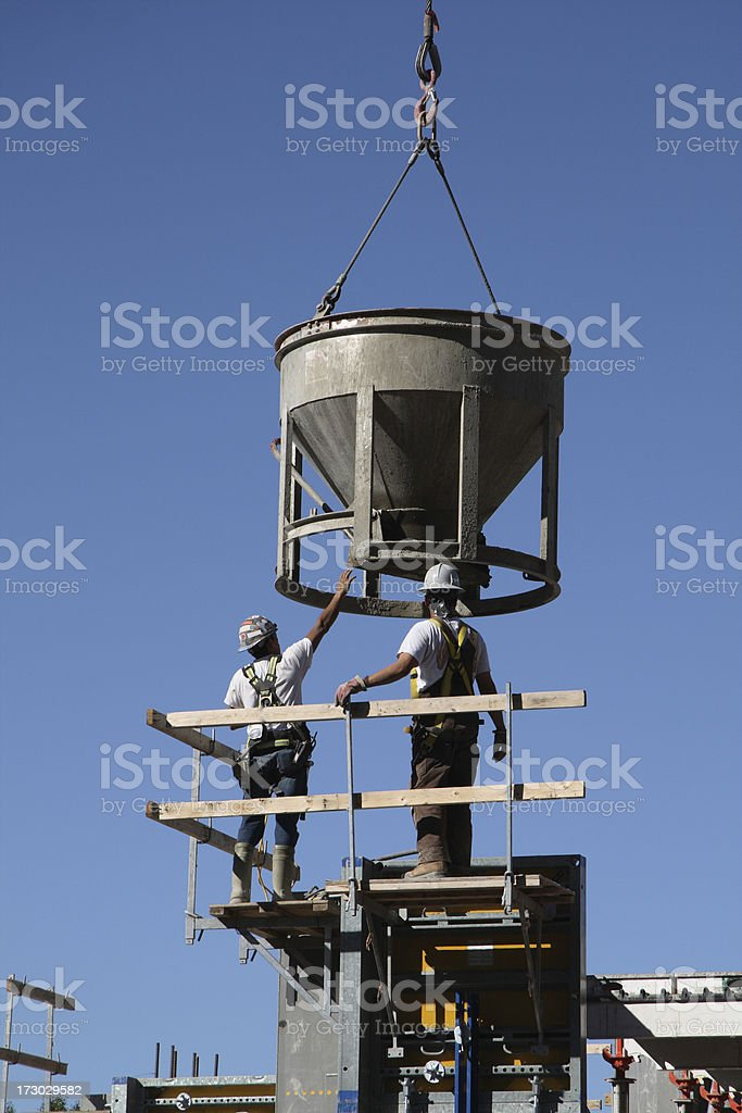 Two Construction Workers royalty-free stock photo