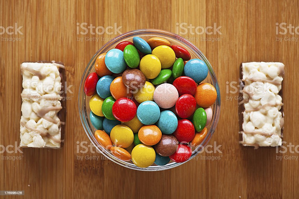 two cookies and lot bowl royalty-free stock photo