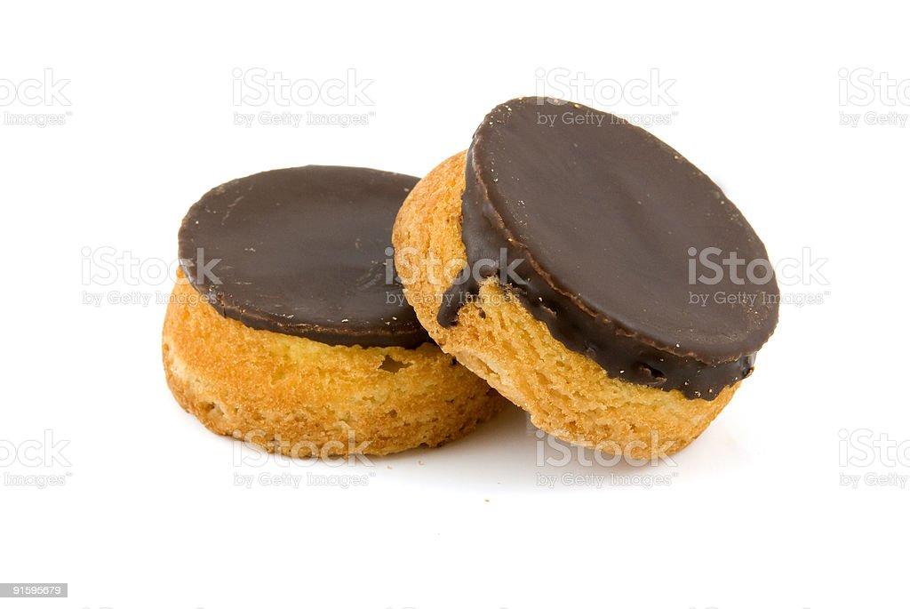 Deux cookies au chocolat photo libre de droits