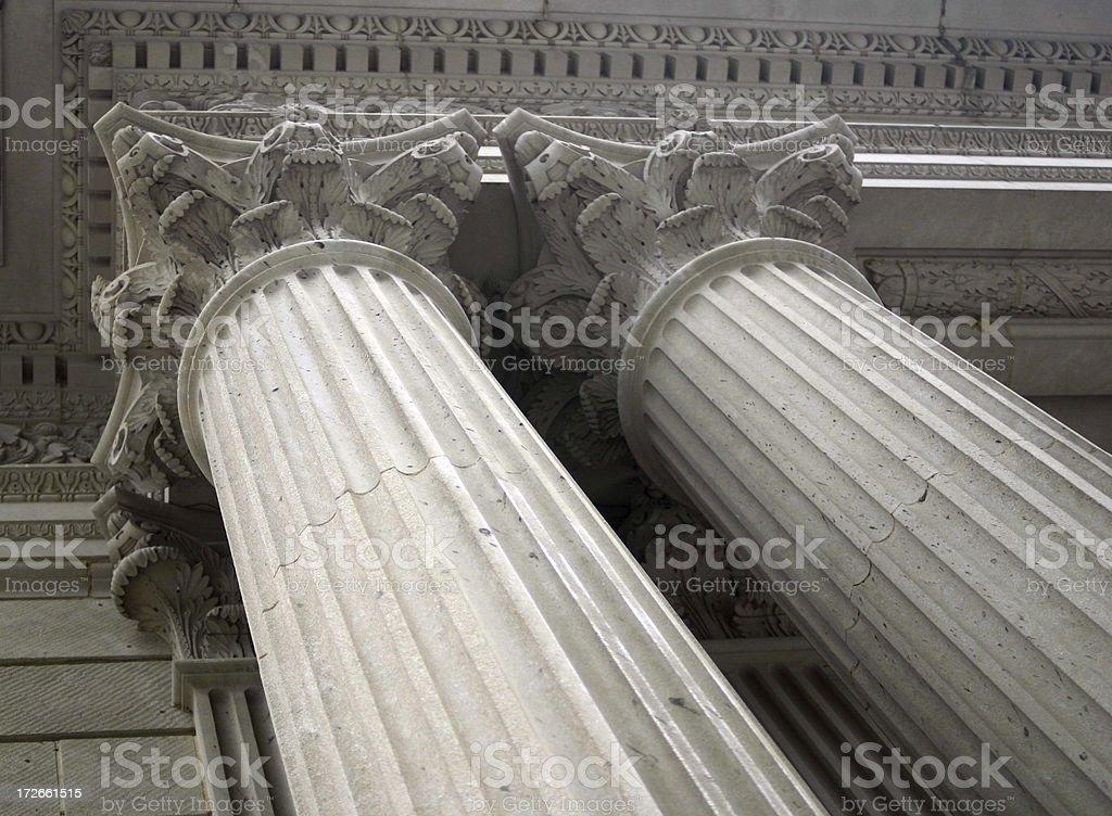 Two Corinthian Columns royalty-free stock photo