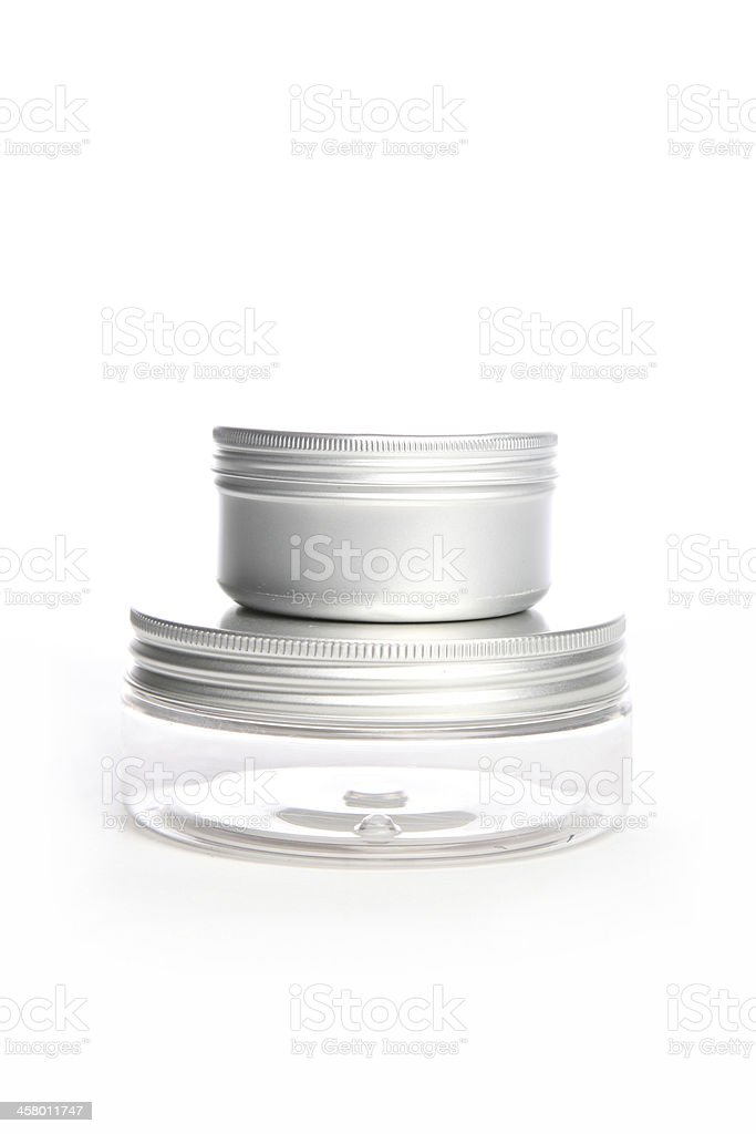 Two cosmetic jars royalty-free stock photo
