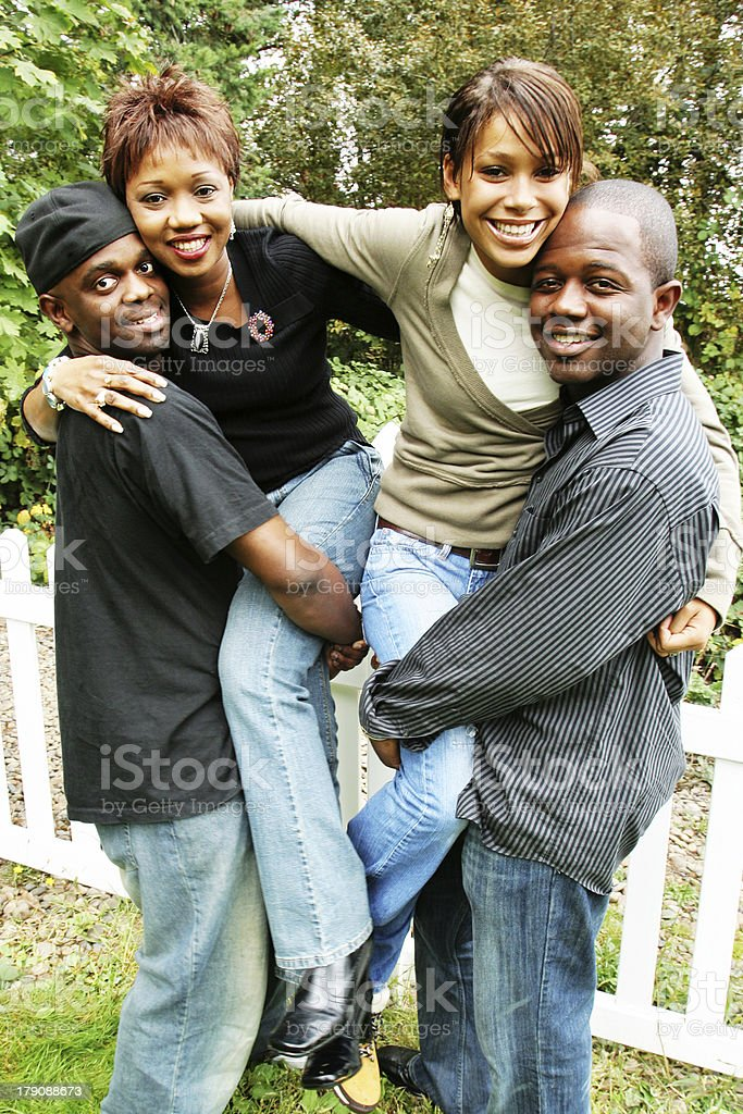 Two Couple Friends stock photo