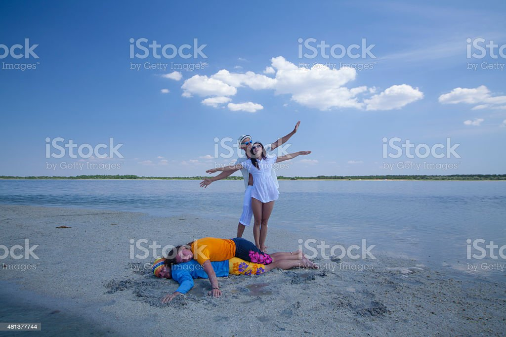 Two Couple royalty-free stock photo