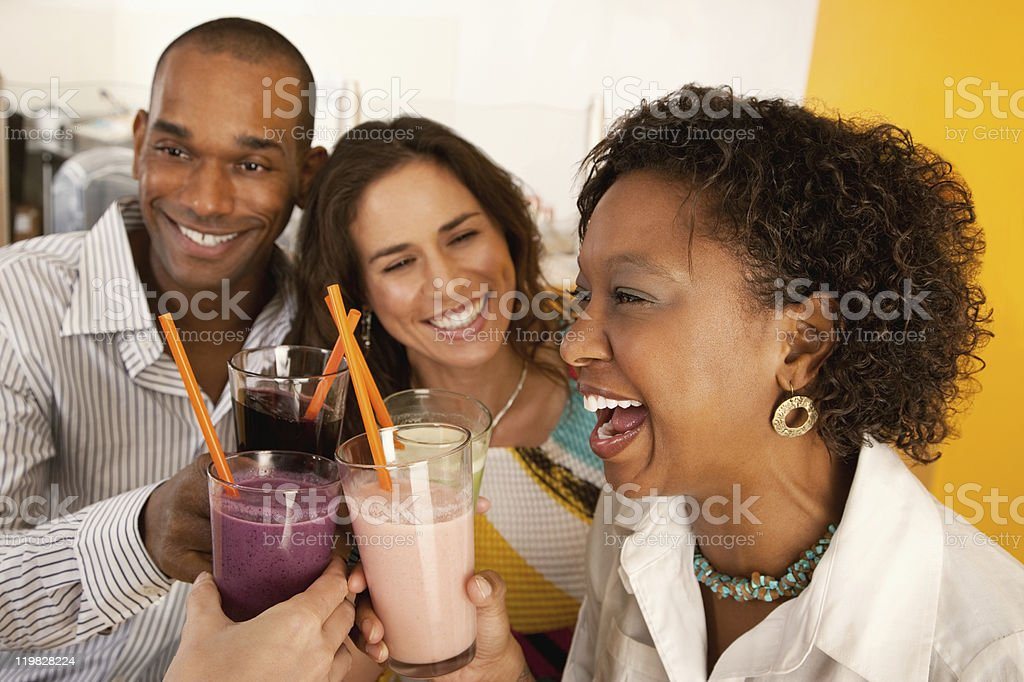 Two Couples Dining Out royalty-free stock photo