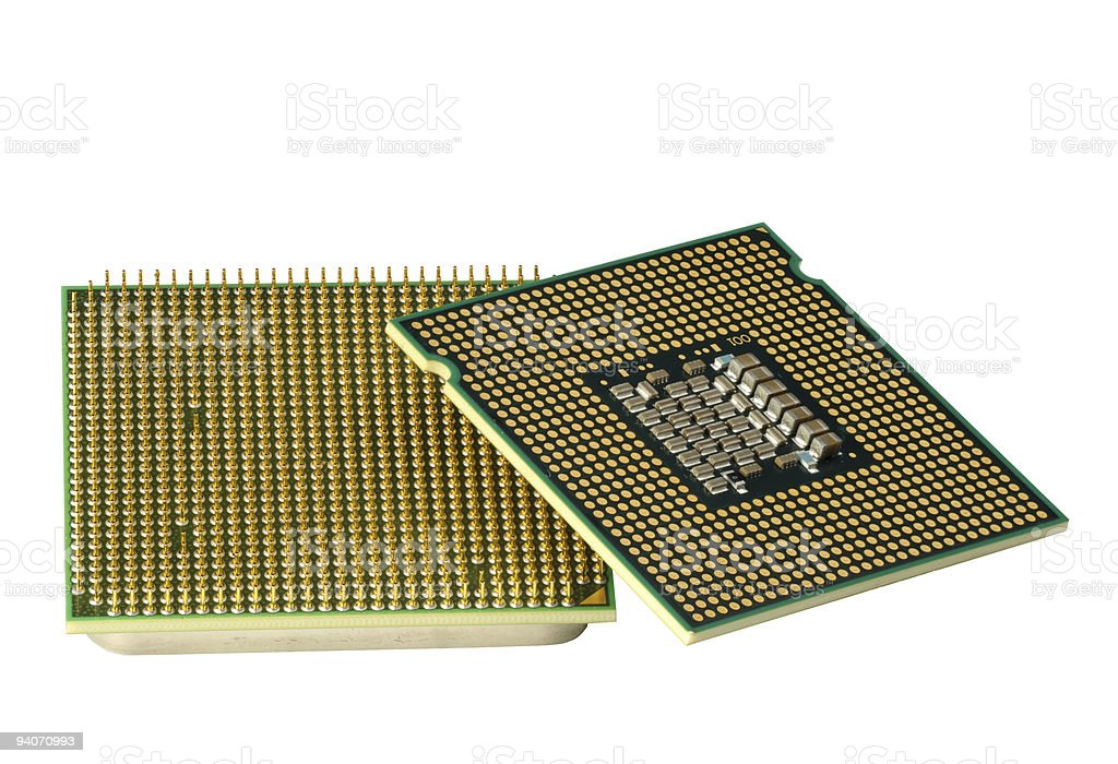 Two CPU, hyper DoF. stock photo