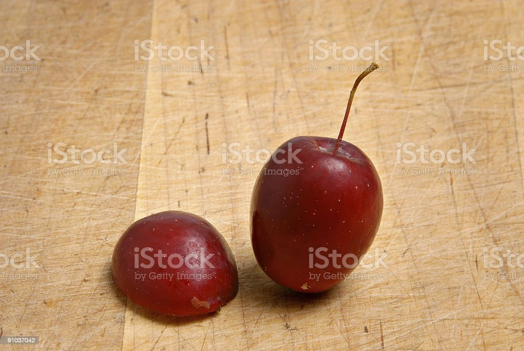Two crabapples royalty-free stock photo