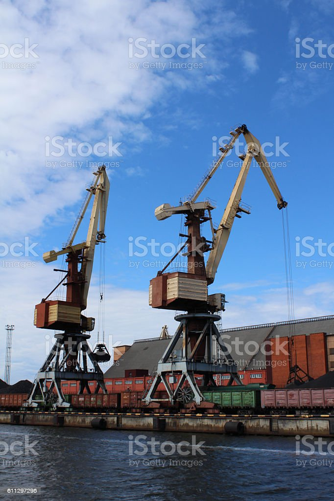 Two crane royalty-free stock photo