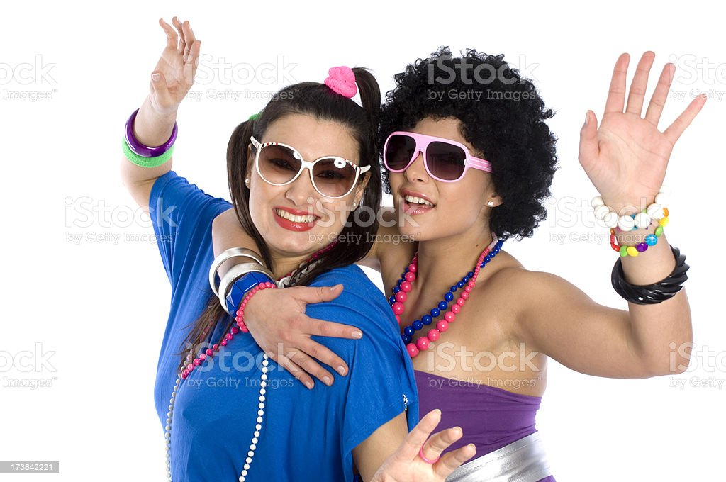 Two crazy girls royalty-free stock photo