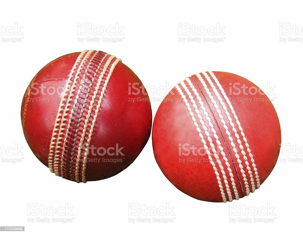Two Cricket balls royalty-free stock photo