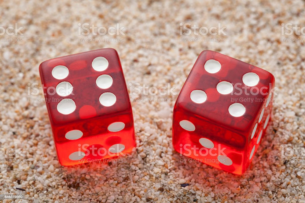 Two cubes stock photo