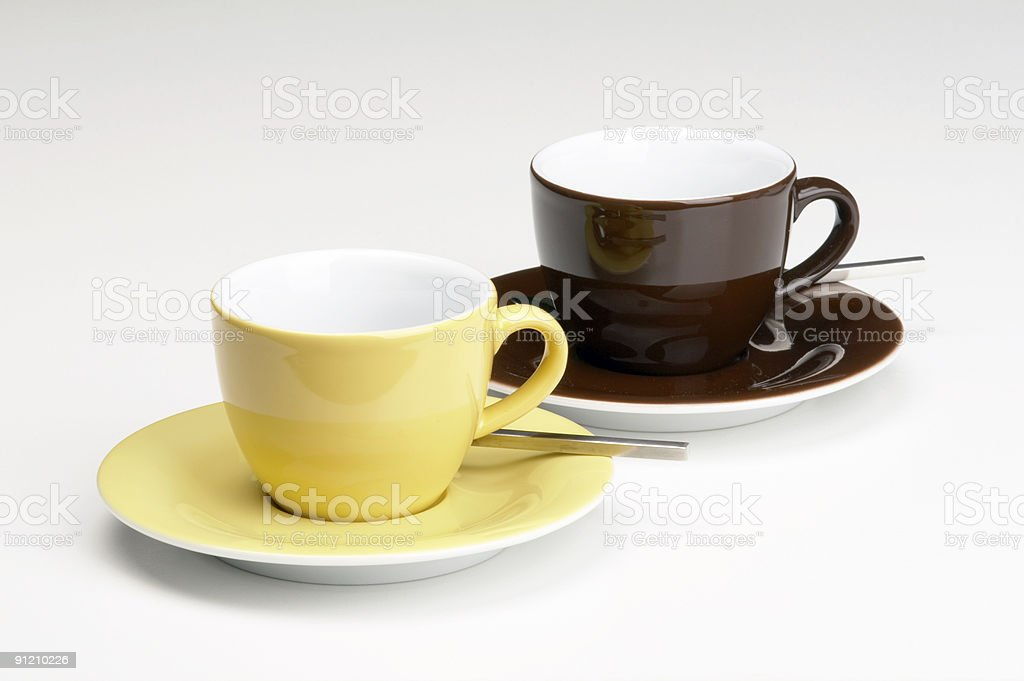 two cup of coffee royalty-free stock photo