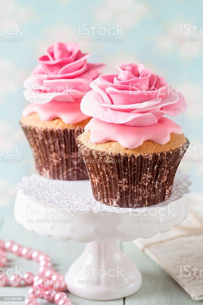 Two cupcakes stock photo