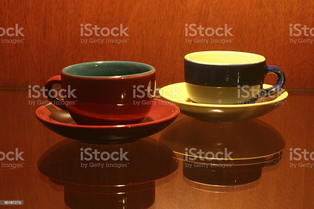 Two cups e royalty-free stock photo