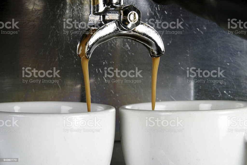 Two Cups Espresso stock photo