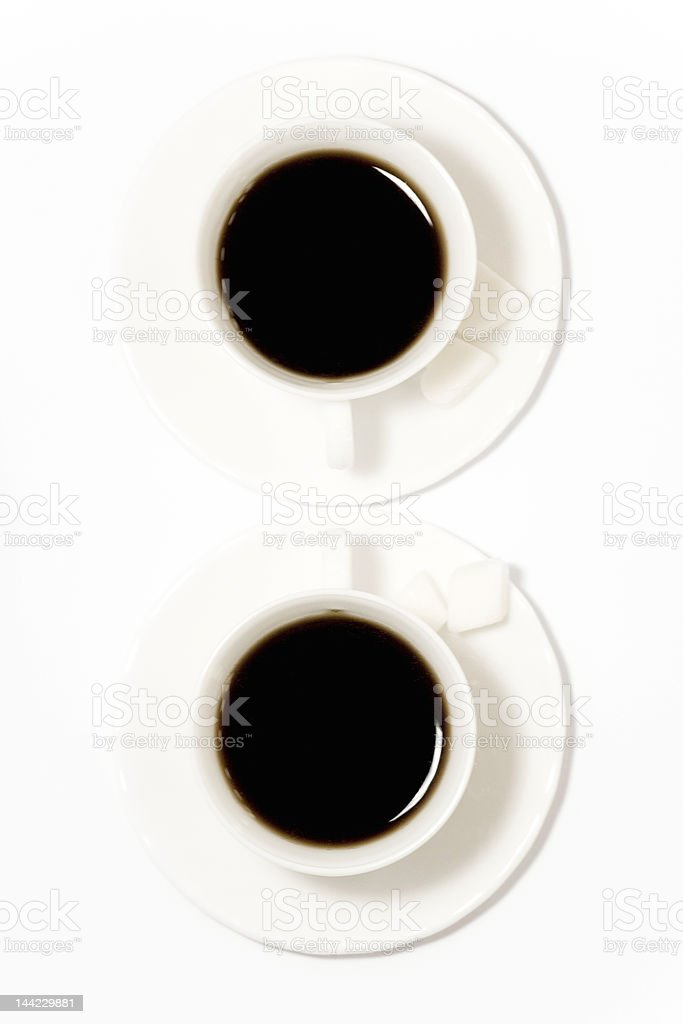 two cups of coffee royalty-free stock photo