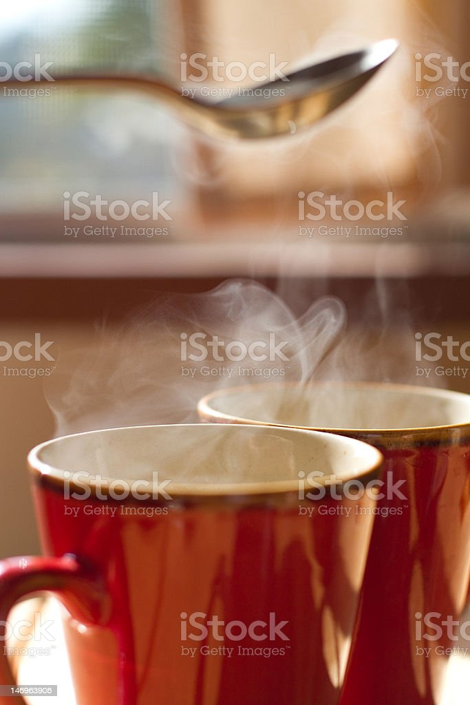 Two Cups of Coffee (XXL) royalty-free stock photo