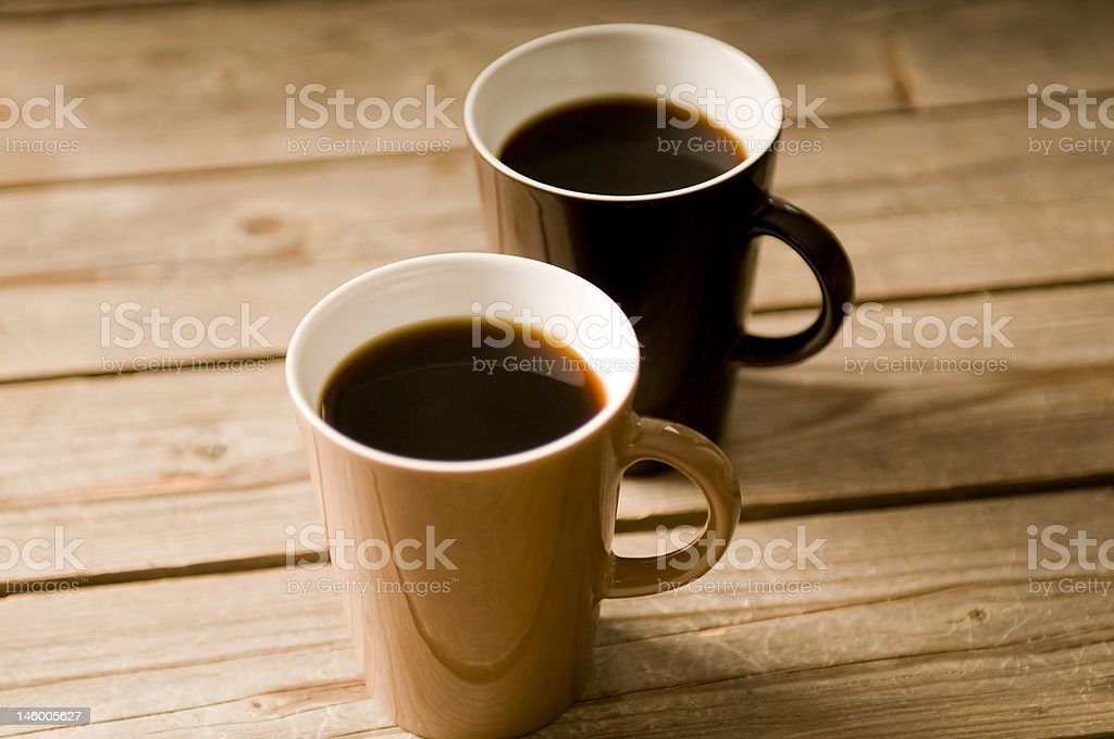 Two Cups of coffee with shallow DOF royalty-free stock photo