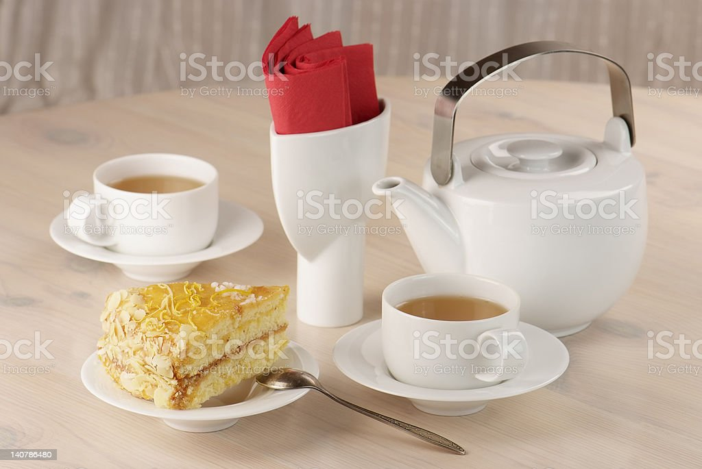two cups of tea royalty-free stock photo