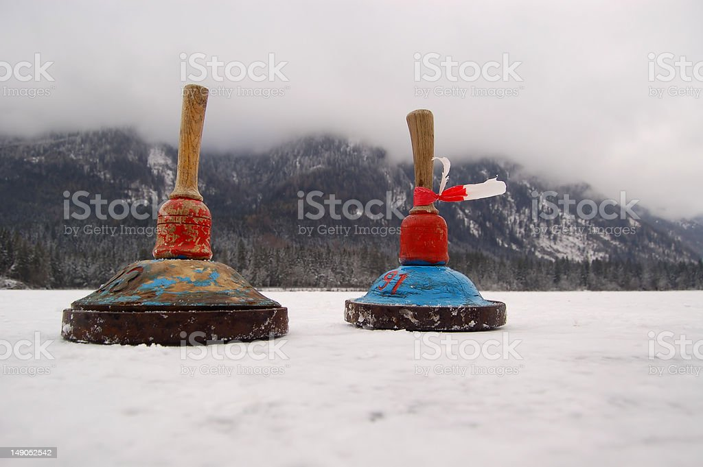 Two Curling Pins stock photo