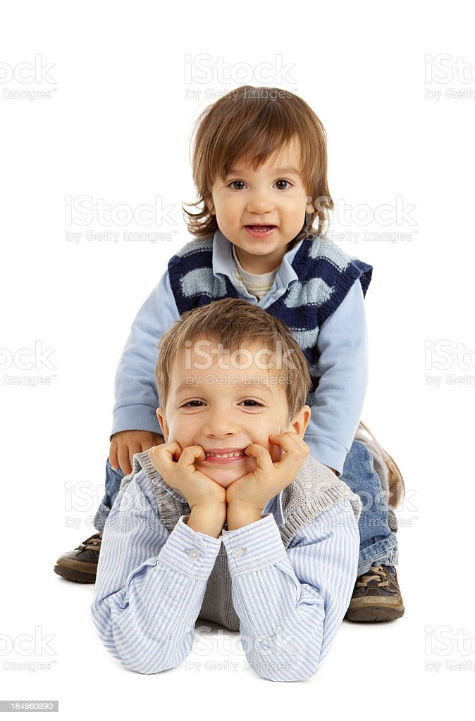 Two cute brothers royalty-free stock photo