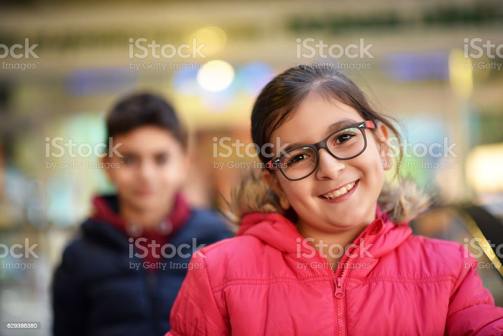 Two cute little child stock photo