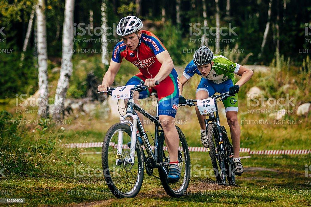 2 사이클 경쟁 royalty-free 스톡 사진