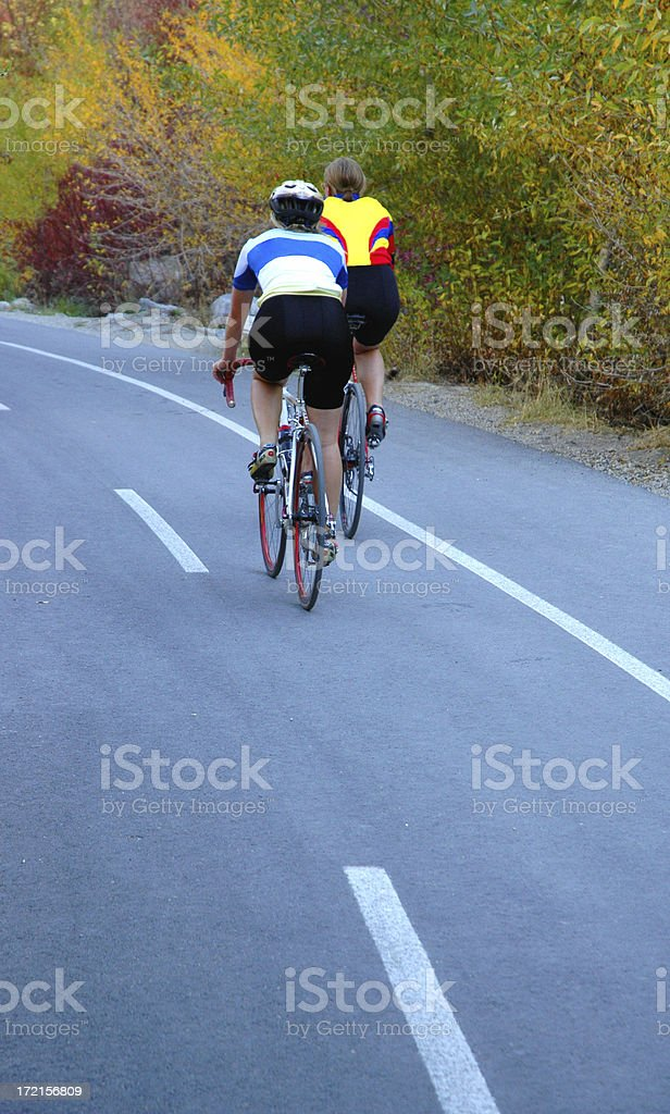 Two Cyclists royalty-free stock photo