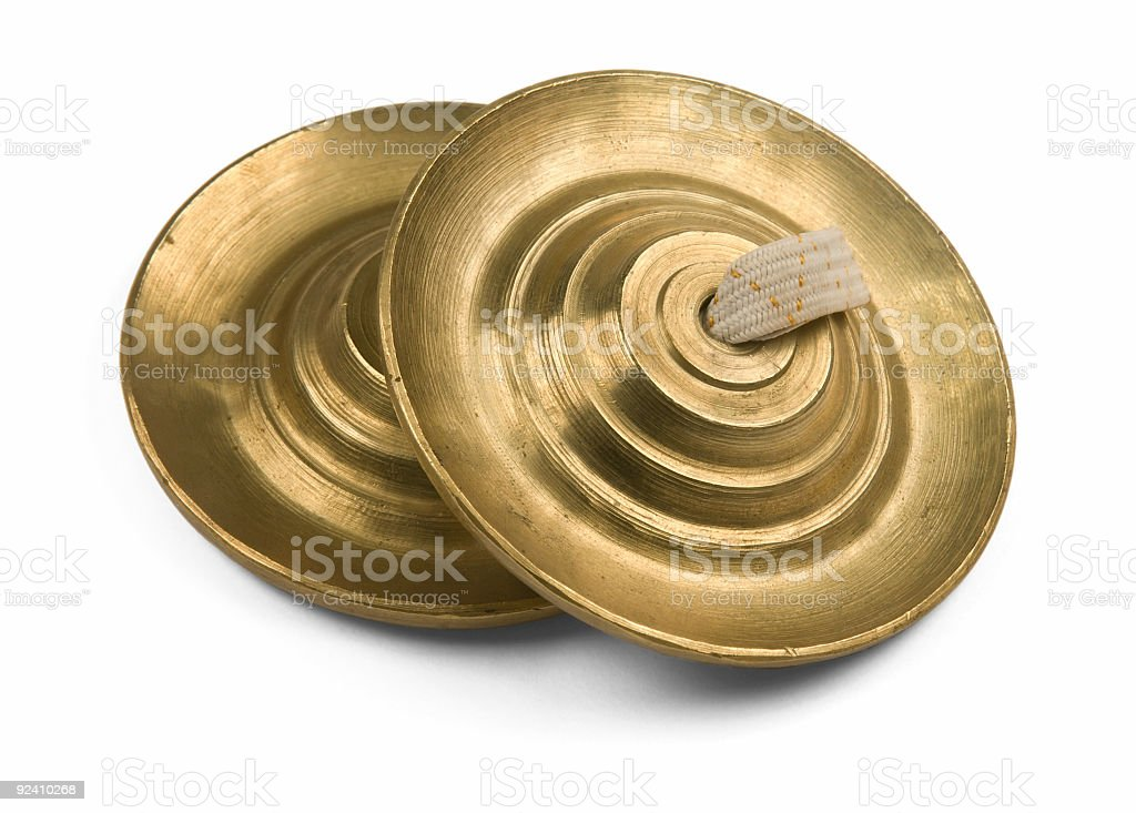 Two cymbals, close-up royalty-free stock photo