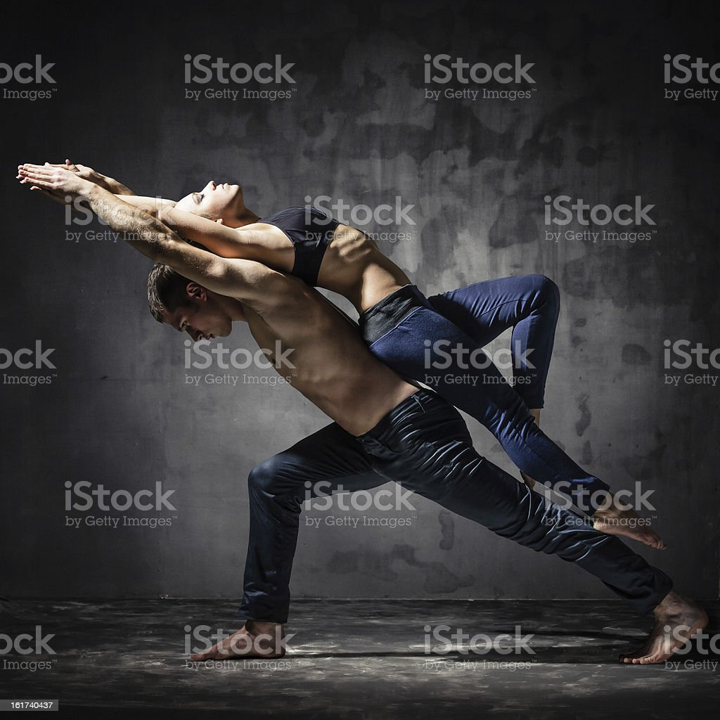 Two dancers stock photo