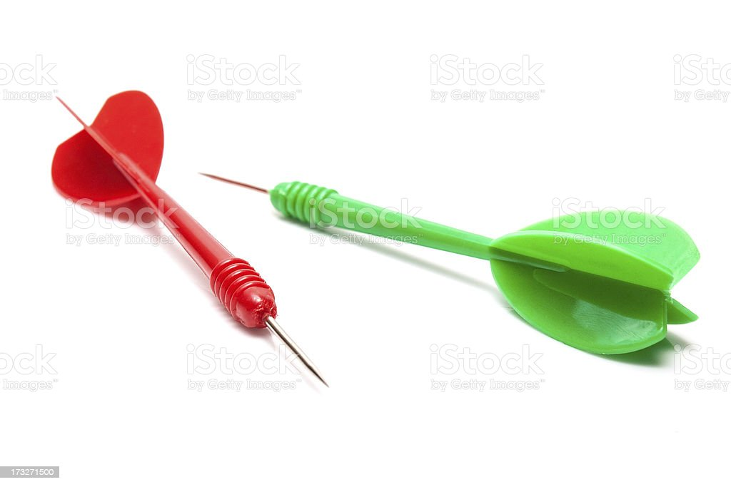 Two darts isolated royalty-free stock photo