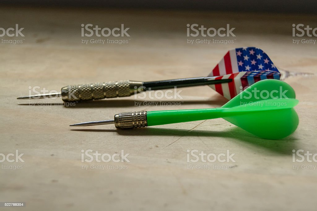 Two darts stock photo