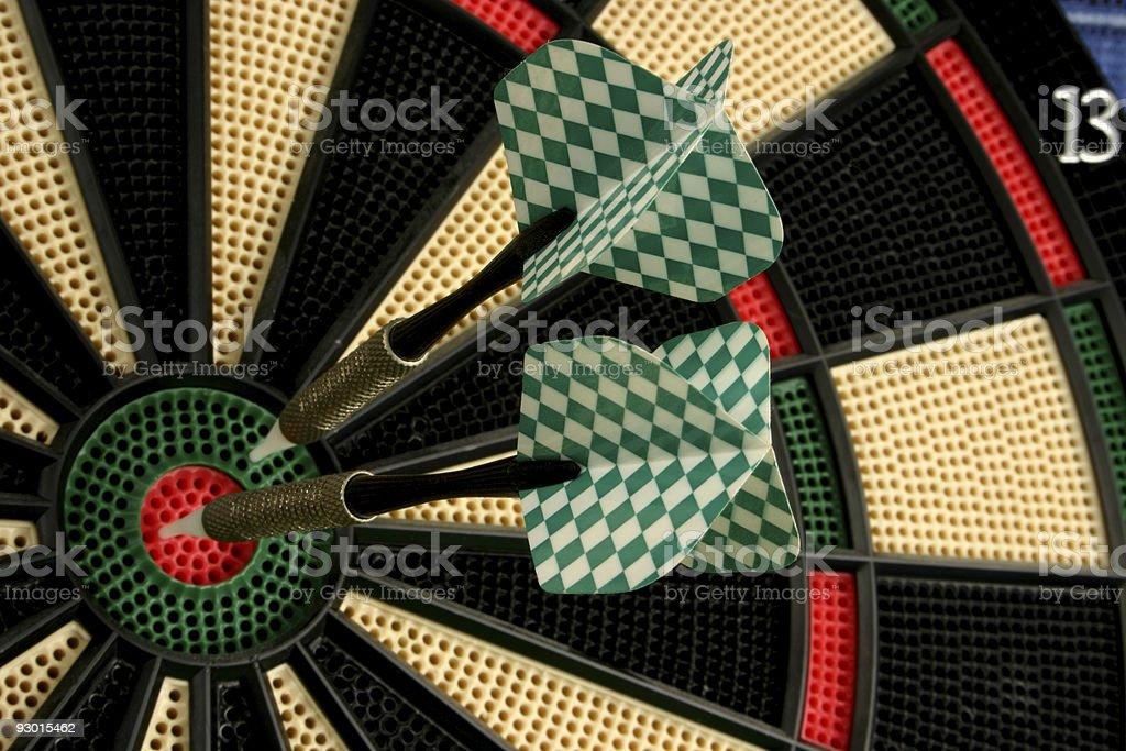 Two darts royalty-free stock photo
