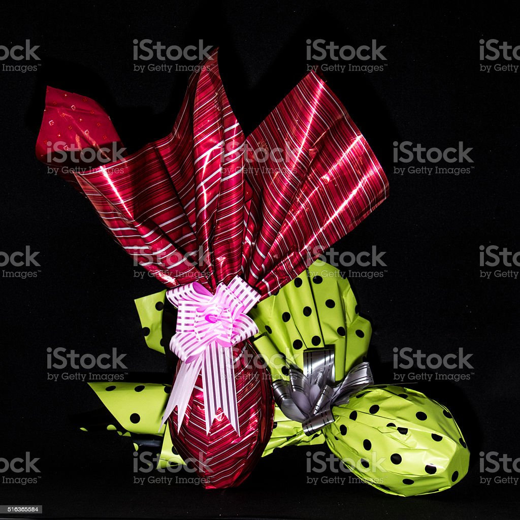 Two decorated Easter eggs III stock photo