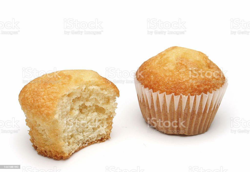 Two delicious muffins royalty-free stock photo