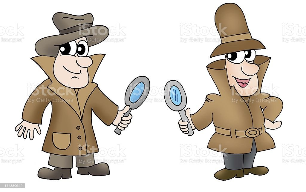 Two detectives royalty-free stock photo