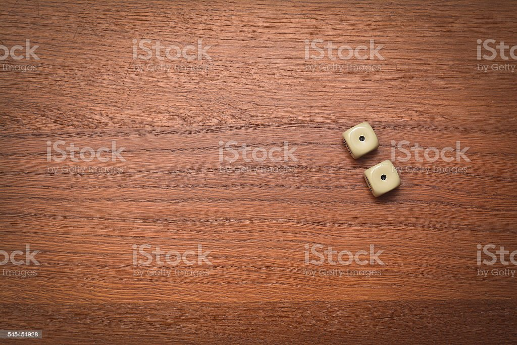 two dice number double one stock photo