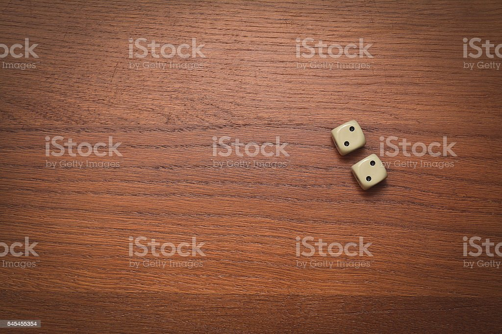 two dice number double two stock photo