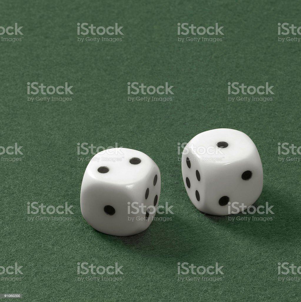 two dice stock photo