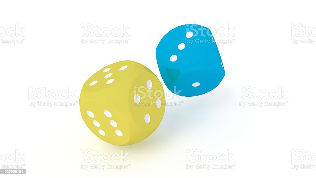 Two dices stock photo