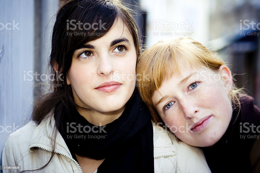 two different beauty styles royalty-free stock photo