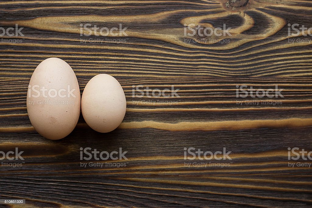 Two different eggs stock photo
