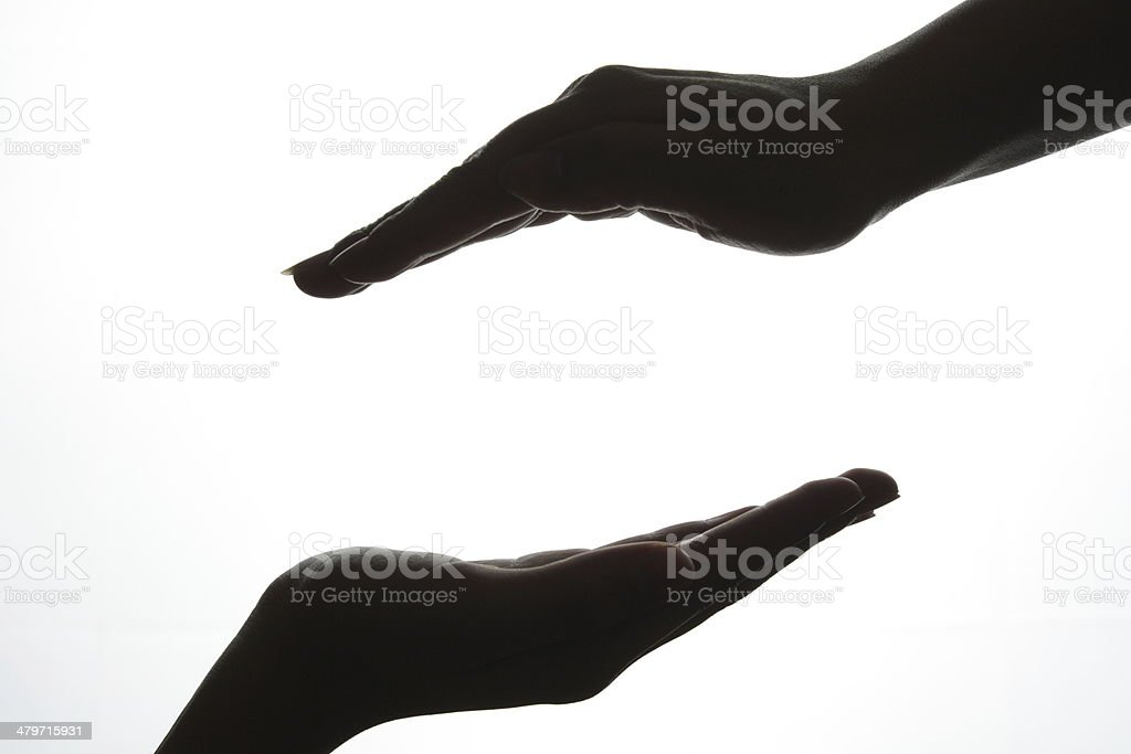 Two different female hand royalty-free stock photo
