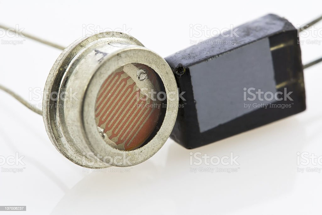 two different types of semiconductor sensors royalty-free stock photo