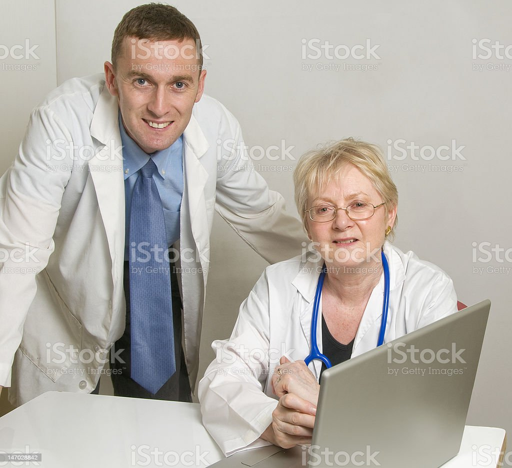 Two Doctors consulting royalty-free stock photo