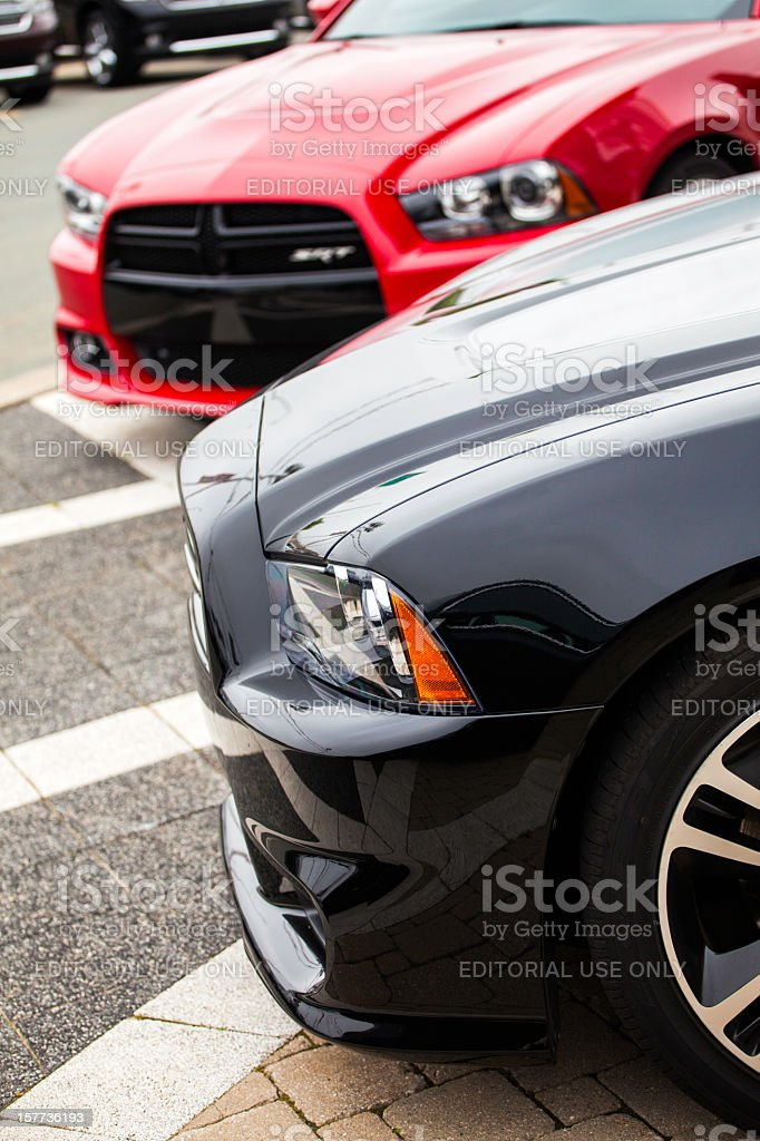Two Dodge Charger SRT8 stock photo