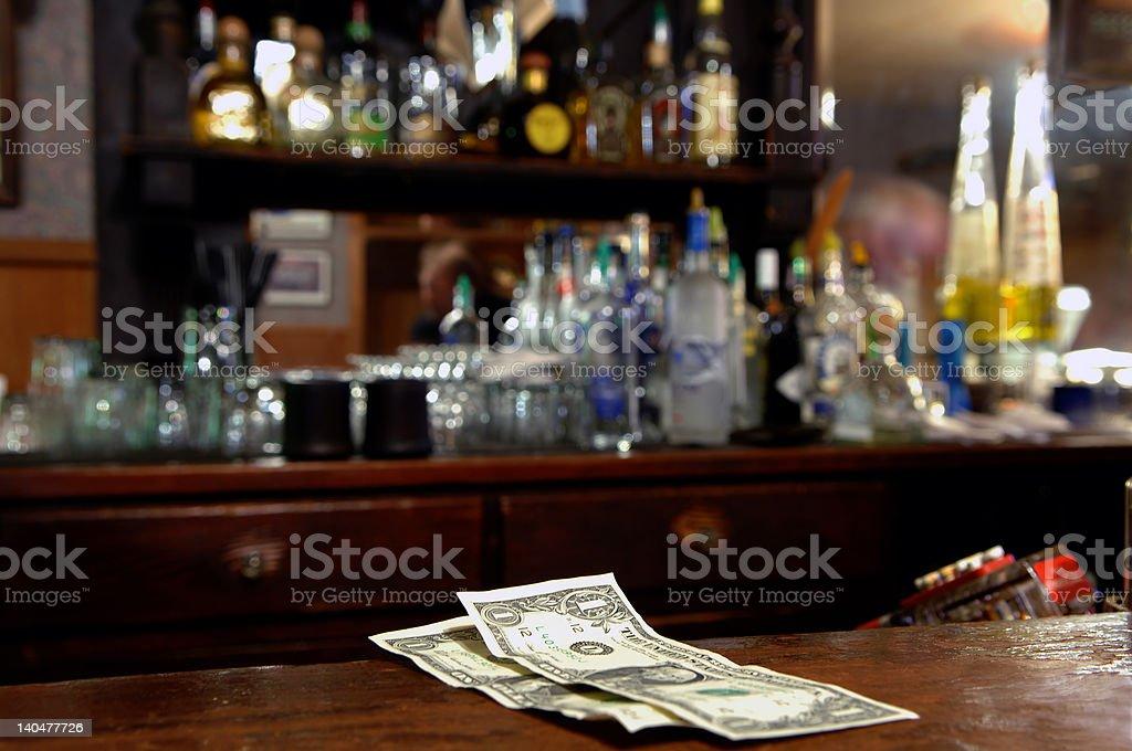 Two Dollar Tip stock photo
